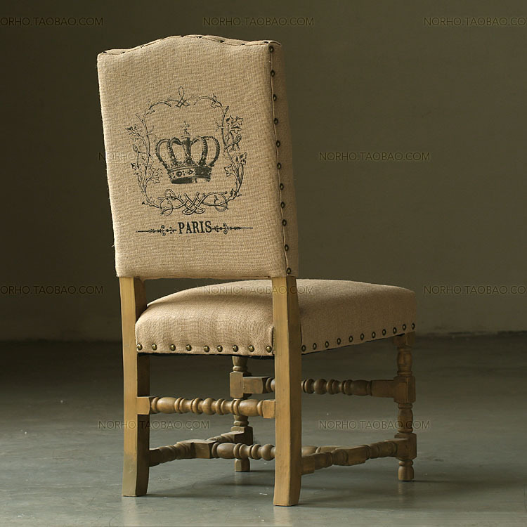 Nordic expression / American classic French country village US wood furniture / wood dining chairs Troy jute(China (Mainland))