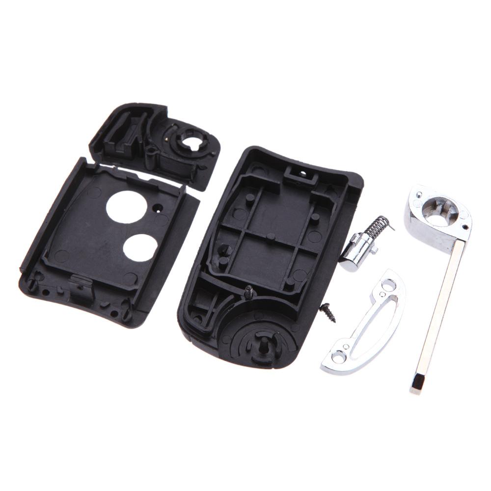 Складной дистанционного брелока ключа автомобиля чехол замена для Honda Accord Fit флип 2 кнопки ключа автомобиля флип фоб режиссерский лезвие ключа автомобиля