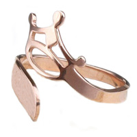 Women new fashion brand 316L steel rings jewelry gift TOP Ms. Rose gold crown ring girl ring Valentine