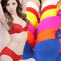 Womens Underwire Push Up Bra Seamless Gather Undewear Outfits Cotton Bra Set Wholesale Free Shipping