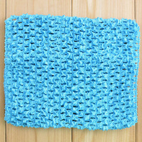 50pcs Soild crochet Top tube baby girls waistband headband tops tube breast wrap skirt 15*15cm girls clothing accessories