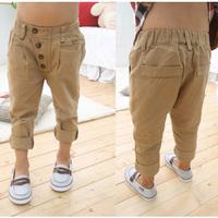 HOT Summer Autumn Girls pants boys pants cotton Children pantalones baby Kids clothes Casual Pants Straight Trousers calca HP007