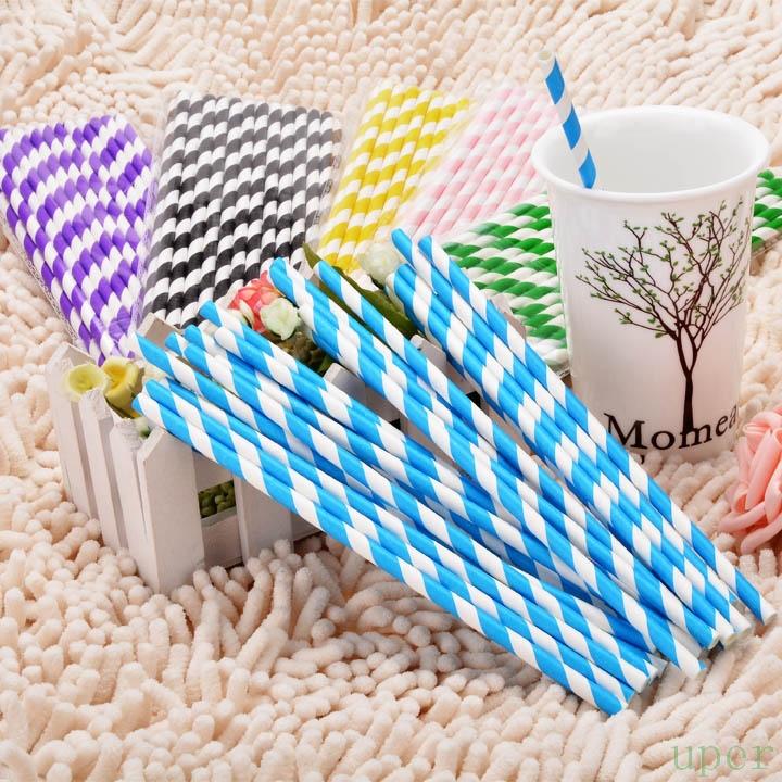 Navy Blue Striped Drinking Straws Drinking Straws Striped