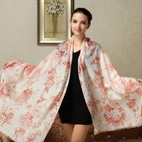 Wholesale  Fashion Plaid 100% authentic wool scarf shawl dual long Ms. FW100
