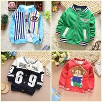 2015 spring new boy jacket monkey sport jacket for boy baby coat long sleeve kids coat 10 design PW50