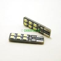 100Pcs T10/168/194 6000K White 12-SMD 1210/3528 Canbus Error Free LED Lights Bulbs  #J-1930