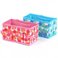 fashion new foldable cosmetic pouch storage box jewelry boxes small items storage bag hot sale
