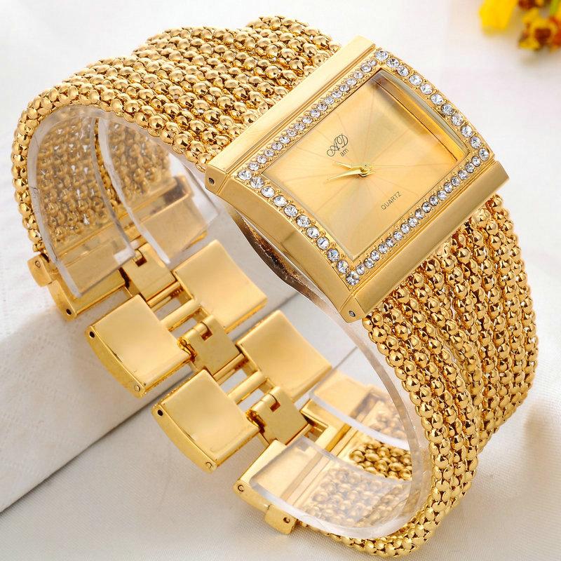 2015 New watch women fashion luxury wristwatches ladies gold steel bracelet quartz watches diamond rhinestone relogio feminino(China (Mainland))