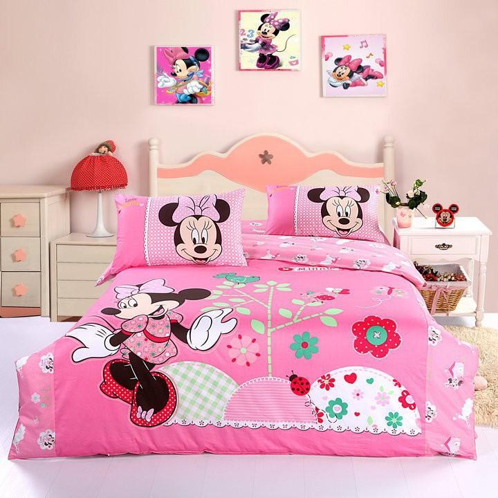 Mickey mouse chambre set marque ensemble de literie filles for Housse de couette de marque