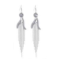 Min order is $10(mix order) Fashion luxury Full Shiny transparent rhinestone Tassel Crystal Drop earrings for women jewelry