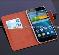 100pcs/lot book style wallet case for huawei ascend G7 case cover with Magnet buckle credit card slots holders