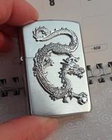 Wholesale 3pcs/lot   Silver brushed  dragon men brand zipppo   lighter