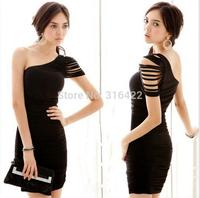2015 New Formal Pencil Office Career Bodycon Dress Lady Work U Neck OL Sexy Peplum Dress Size Z 122