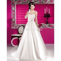 Nitree Elegant A-Line Sweetheart Lace Brush Train Wedding Dresses Bridal Gown