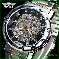 WINNER Direct Selling Promotion Freeshipping Men Watches Man Watch Elegant Fashion Pierced Steel Band Mechanical Jwh036 Business