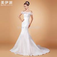lace wedding dress new 2015 sexy mermaid wedding dresses romantic fashionable vestido de festa wedding gowns robe de mariage 716