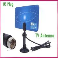 US plug Digital Indoor TV Antenna HDTV DTV HD VHF UHF Flat Design High Gain TV Antanna receiver