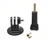 Black Tripod Monopod Mount Adapter +Long Screw For  GoPro 1 2 3 Camera Accessories