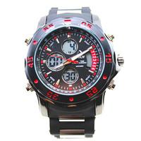 2015 new product HPLOW brand sports style for man dual led digital japan quartz movement wholesale men waterproof watch