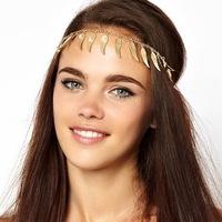 Headwear  FD023 foreign trade Europe and  the same metallic wings flow women hairband headband