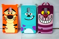 Cute 3D Cartoon Monster Tigger Sulley Cheshire Cat Silicone Case Back Cover For samsung galaxy note 4 n9100 N910