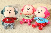 Baby  Plush Toys  Lovers Monkey  Doll Pendant  Wedding Gift For Girls