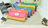 Wholesale high-grade ladies' retro MNG bump color in the lady's long purse The large capacity wallet