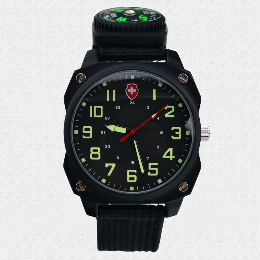 Nylon Fabric Strap Sports Watches Men 3ATM Waterproof Quartz Wristwatches 2015 New Fashion Clocks Canvas Compass Military Watch(China (Mainland))