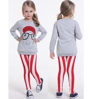 Sale Tutu Clothing sets girls clothing sets top+Stripe legging kids 2pcs sets autumn child sportswear set girl casual suit HB096