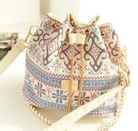 2014 Promotion Women bag fashion bucket bag canvas patchwork women shoulder bag brand messenger bag women handbag bolsas