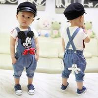 New! Free shipping spring and autumn Baby Boys girls Cartoon denim bib pants boys girls glitter overalls jeans FF882
