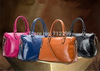 New fashion female bag lady oil wax soft cowhide leather handbag single shoulder bag