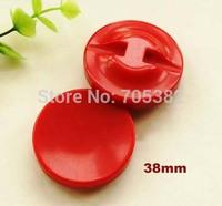 38mm, Round red buttons for Garment, Bulk button (ss-a1491-a300)
