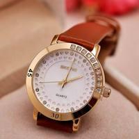 wristwatch Limited New Glass Women Trend Simple Fashion Female Form Diamond Ladies Watches Quartz Watch Wholesale free ship