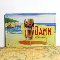 DAMM BEER  sign metal House Cafe Restaurant  Beer Poster Painting vintage Tin Signs Mix order item 20*30cm 7.87*11.81 inch