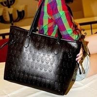 Bags 2013 female fashionable casual big bags black skull women's handbag fashion shoulder bag