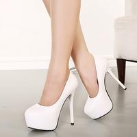 New 2015 Hot! high heel shoes quality dress fashion women's sexy heels Wedding High Heels Women Platform pumps X263
