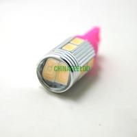 4Pcs Car DC12V Pink T10 194/168 Wedge 10-SMD 5630 LED Light Bulb With Lens #J-1653
