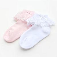 SKL S310 letter children socks lace spring/autumn cotton socks elastic princess ballet accessories birthday gift on sale
