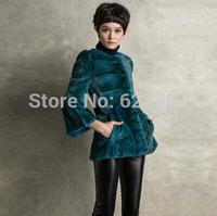 2015 hot sale spring Winter Women's Genuine Natural Spliced Mink Fur Jackets Show thin Lady Short Coats