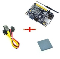 Update version WIFI banana pi pro board+ SIC Ceramic cooling heat sink+SATA cable,banana pro kit free shipping