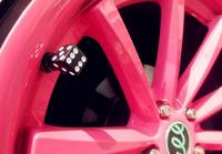 Hot Style Solid Color Wheel Dice Tire Valve Cap, Car Valve Cap Set For Car Auto Motorcycle Bike,Free Shipping 4PCS/LOT