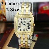 2015 New Women Dress Steel Band Imitate Diamond Quartz Watch luxury brand lovers Watches Women Wristwatches