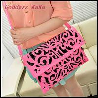 2015 New fashion Women Bag PU Hollow design Shoulder bag Candy color bolsas feminina Crossbody bag Clutch Wallet for womenMG010