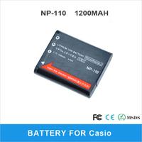 High Capacity 1200mAh NP-110 Camera Battery For Casio EX-Z2000VT Digital Camera
