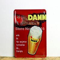DAMM BEER vintage Tin Signs sign metal House Cafe Restaurant  Beer Poster Painting Mix order item 20*30cm 7.87*11.81 inch