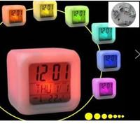 AC Version Glowing LED Night Light Color Changing Digital Alarm Clock