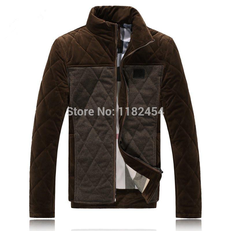 L'arrivée de nouveaux 2015 mens vestes d'hiver pour hommes manteau col couturequalité faux suède coton- rembourré usine de vêtements en gros
