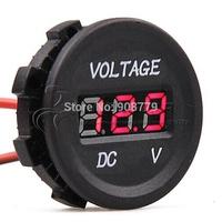 Free Shipping Brand New Car Motorcycle Instrument Universal Digital voltmeter LED Display 12V-24V