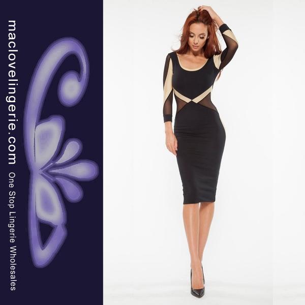 Женское платье Maclove Women Clubwear Bodycon Dress ML18270 Midi Vestido ML18270 Sexy Long Sleeve Dress женское платье summer dress 2015cute o women dress